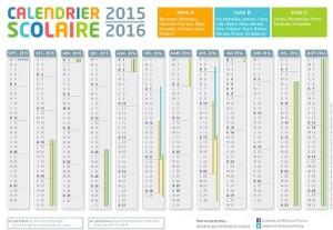 2016 calendrier vacances scolaires