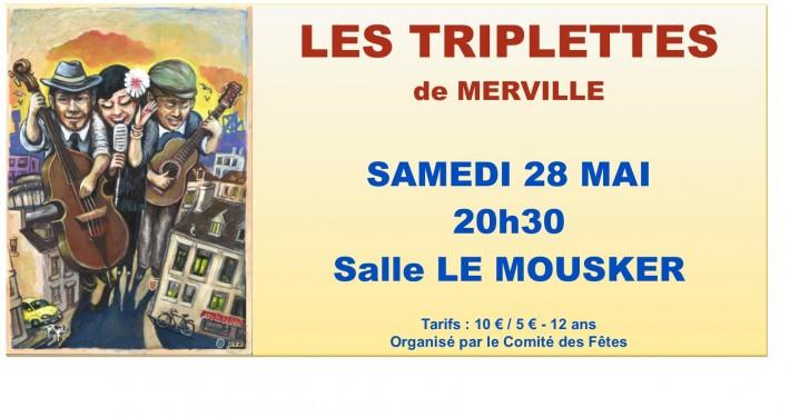 2016 MAI  Concert Les Triplettes de Merville