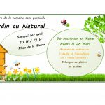 2017 MARS Jardin au naturel - ANIMATIONS ABEILLE