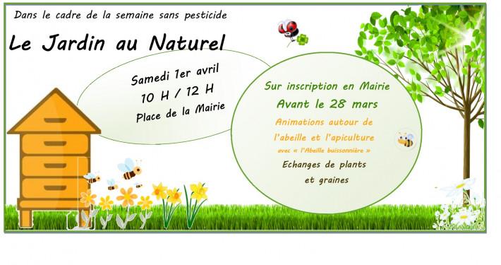 2017 MARS Jardin au naturel - ANIMATIONS ABEILLE