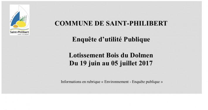 2017 JUIN JUILLET- enquête publique BOIS DU DOLMEN