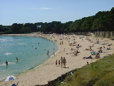 La plage de Men er Beleg à Saint Philibert - morbihan - bretagne