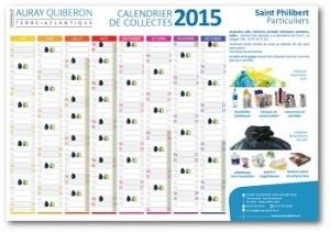 2015 Calendrier  déchets